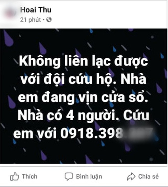 Nhiều người dân Quảng Trị đồng loạt lên mạng kêu cứu khi lũ bất ngờ lên nhanh trong đêm - ảnh 7