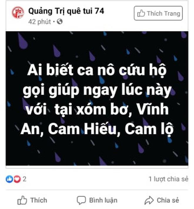 Nhiều người dân Quảng Trị đồng loạt lên mạng kêu cứu khi lũ bất ngờ lên nhanh trong đêm - ảnh 8