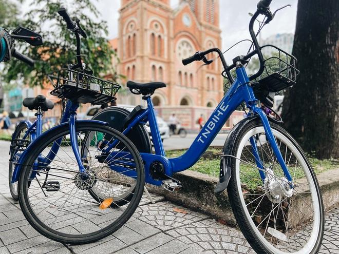 Trải nghiệm xe đạp công cộng cho thuê 10.000 đồng/giờ lần đầu lăn bánh trên đường phố Sài Gòn - Ảnh 3.