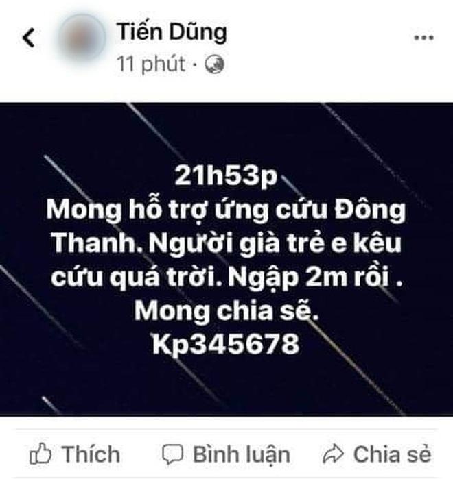 Nhiều người dân Quảng Trị đồng loạt lên mạng kêu cứu khi lũ bất ngờ lên nhanh trong đêm - ảnh 10