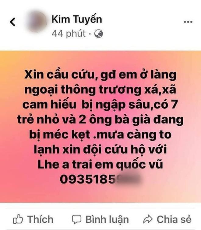 Nhiều người dân Quảng Trị đồng loạt lên mạng kêu cứu khi lũ bất ngờ lên nhanh trong đêm - Ảnh 3.