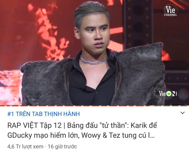 Rap Việt soán ngôi chính mình để giành top 1 trending YouTube trong chưa đầy 1 ngày - ảnh 2