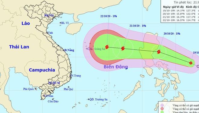 Ngày mai áp thấp nhiệt đới khả năng mạnh thành bão, hướng vào miền Trung gây mưa lớn từ 24/10 - ảnh 1