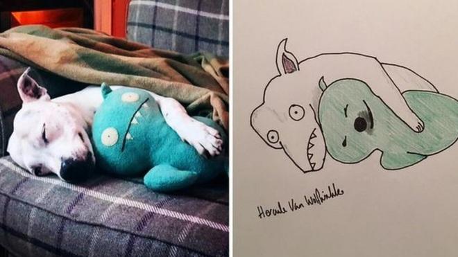 Vẽ chó mèo xấu như ma cấu nhưng vẫn bán được 150 triệu đồng, họa sĩ bèn đem đi từ thiện cho đỡ mang tiếng - ảnh 1