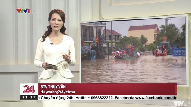 Á hậu Thụy Vân tái xuất dẫn bản tin trên sóng truyền hình sau tin đồn đã nghỉ việc tại VTV - ảnh 1