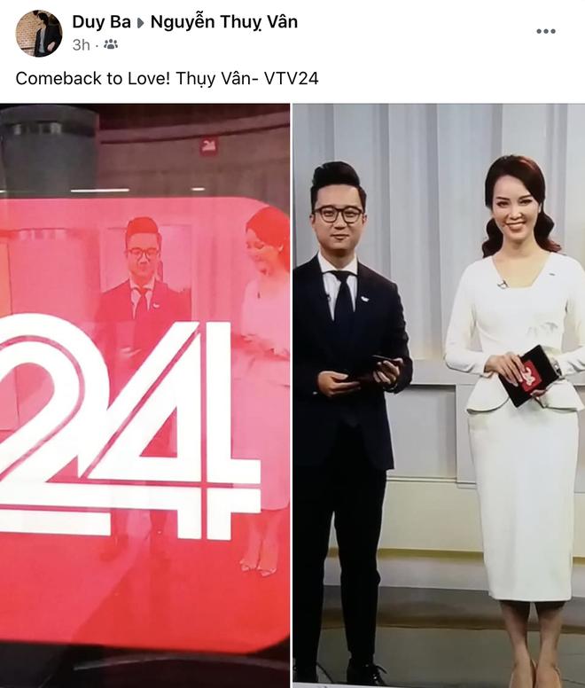 Á hậu Thụy Vân tái xuất dẫn bản tin trên sóng truyền hình sau tin đồn đã nghỉ việc tại VTV - ảnh 4