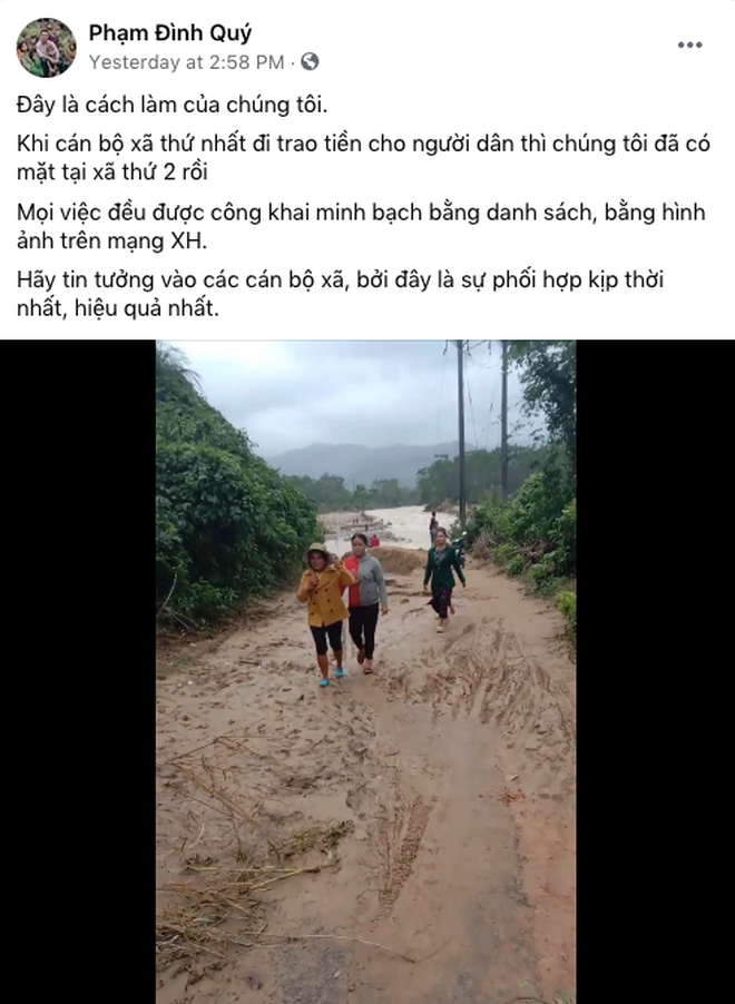 Kĩ sư Phạm Đình Quý chia sẻ từ kinh nghiệm cứu trợ người dân vùng lũ: Thủy Tiên kêu gọi rất tốt, thực hiện theo phương án của tôi là cực kỳ hợp lý lúc này - ảnh 2