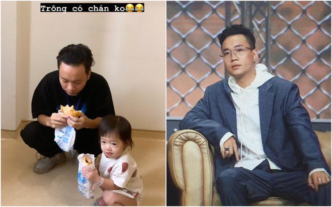 JustaTee bị bà xã dìm hàng không thương tiếc, bảnh trai ở Rap Việt - về nhà xuề xoà chuẩn ông bố bỉm sữa - ảnh 2