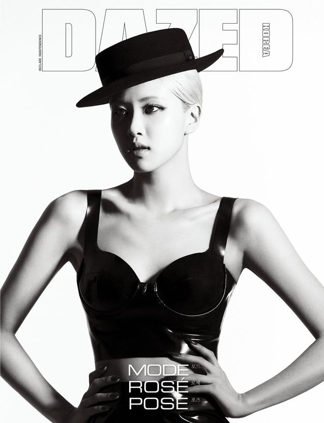 Sốc nhẹ bộ ảnh tạp chí mới của Rosé (BLACKPINK): Son đỏ chót, lên đồ da bóng lộn, vòng 1 khiêm tốn sao sang thế này? - ảnh 4