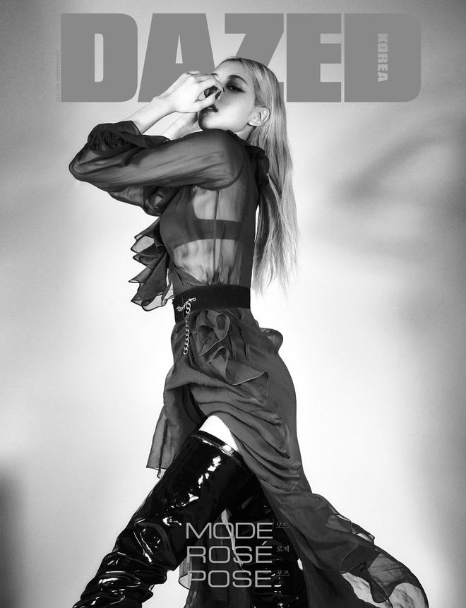 Sốc nhẹ bộ ảnh tạp chí mới của Rosé (BLACKPINK): Son đỏ chót, lên đồ da bóng lộn, vòng 1 khiêm tốn sao sang thế này? - ảnh 7