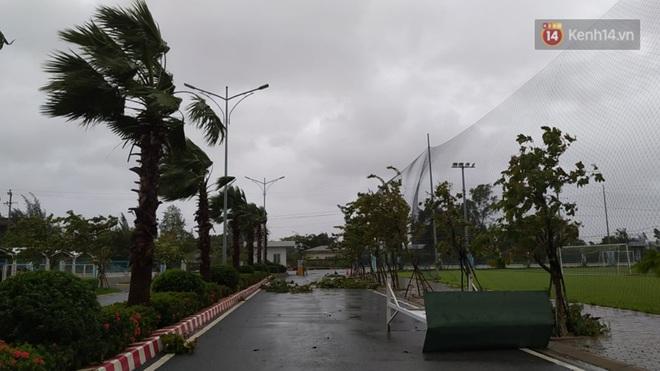 Bão số 9 sắp đổ bộ: Gió giật mạnh ở Quảng Ngãi, đã có nhà bị tốc mái; phong toả một phần Quốc lộ 1A khiến hàng trăm xe ùn tắc - Ảnh 1.