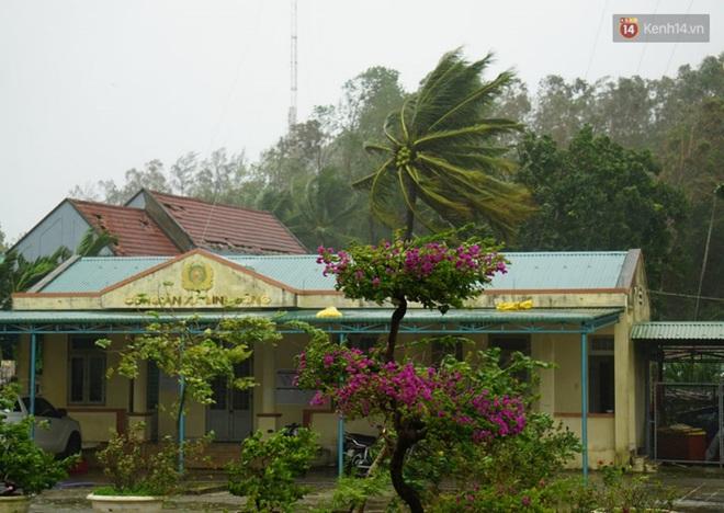 Bão số 9 giật cấp 15 áp sát đất liền: 2 người chết, 7 người bị thương ở Quảng Ngãi và Bình Định, hàng loạt ngôi nhà tốc mái - Ảnh 3.