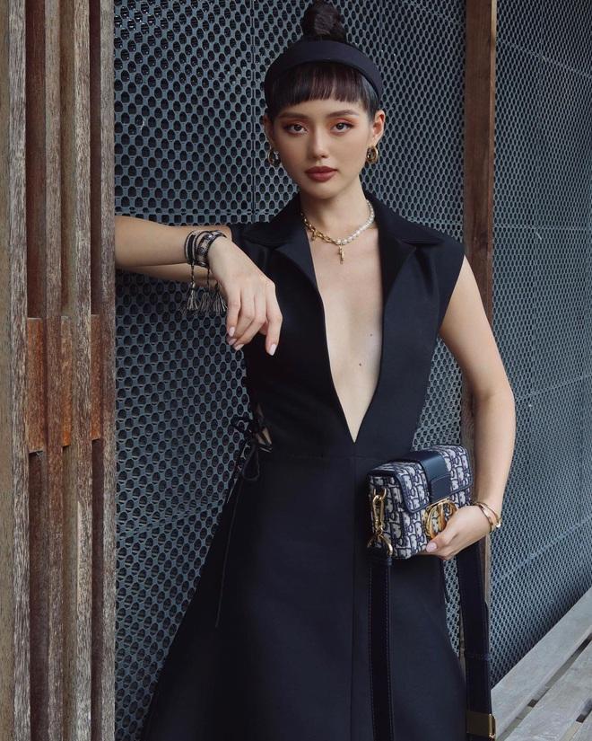 Váy Dior bị Suzy khâu tiệt để hở vừa vừa, Khánh Linh chơi lớn diện luôn bản gốc xẻ ngực sâu hoắm - ảnh 4