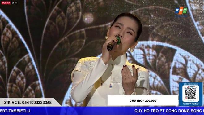 Sau ồn ào ly hôn, Lệ Quyên lần đầu xuất hiện biểu diễn chớp nhoáng trong đêm nhạc từ thiện ủng hộ miền Trung - ảnh 3