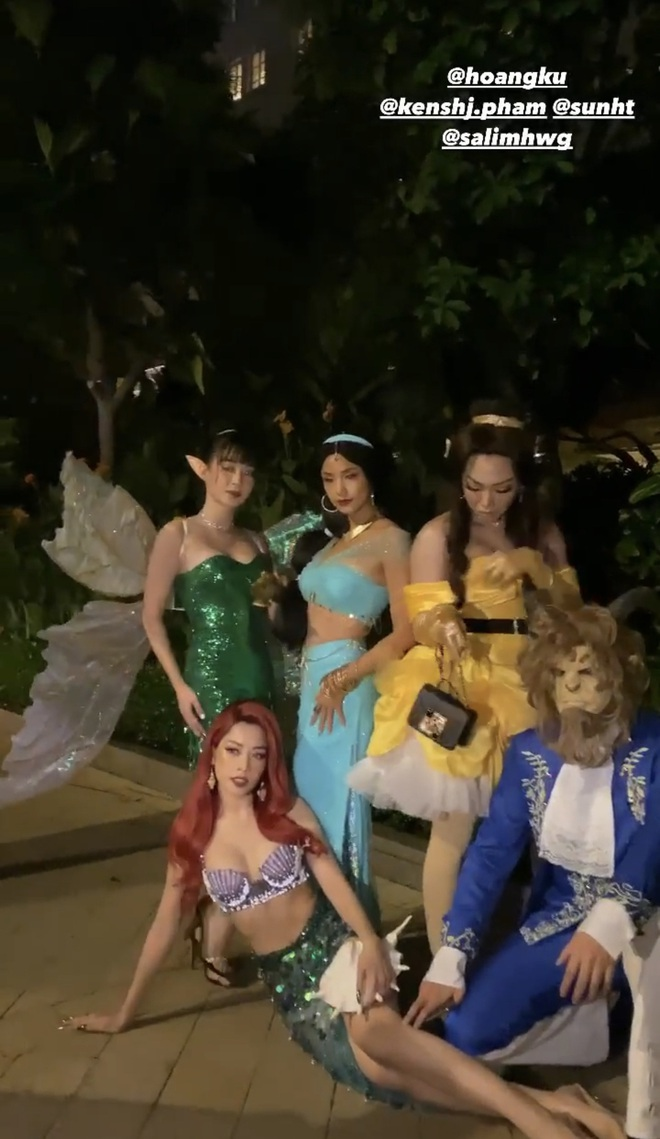 Quỳnh Anh Shyn đăng ảnh hoá trang Halloween một mình, trong khi Salim nhập hội Chi Pu và Sunht - ảnh 4