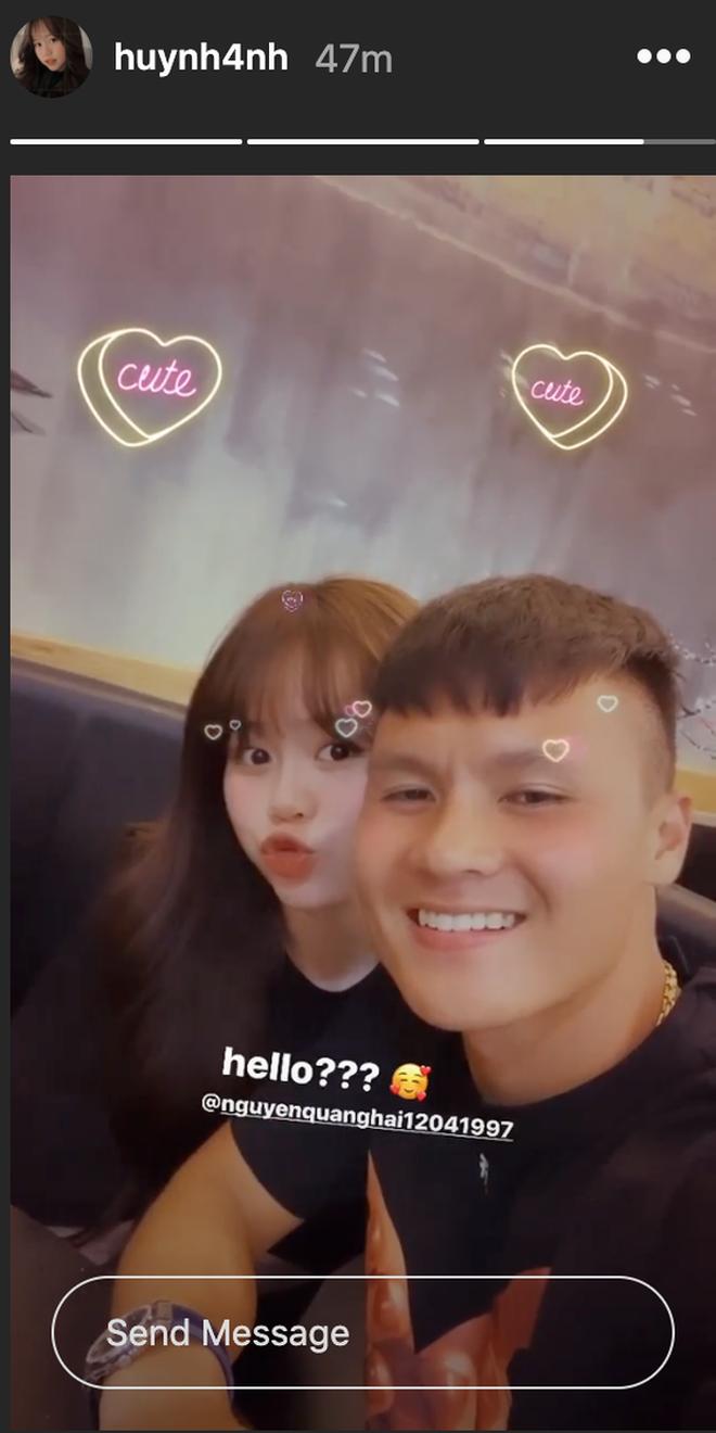 """Netizen không tin lời Huỳnh Anh vì dùng filter tự sướng với """"người lạ"""" cũng giống hệt khi ở bên Quang Hải - Ảnh 1."""