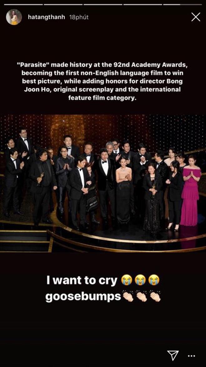 """Hà Tăng, Park Seo Joon và dàn sao Hàn - Việt vỡ oà khi phim """"Ký sinh trùng"""" làm nên lịch sử tại Oscar: Đỉnh cao, quá xứng đáng! - Ảnh 1."""