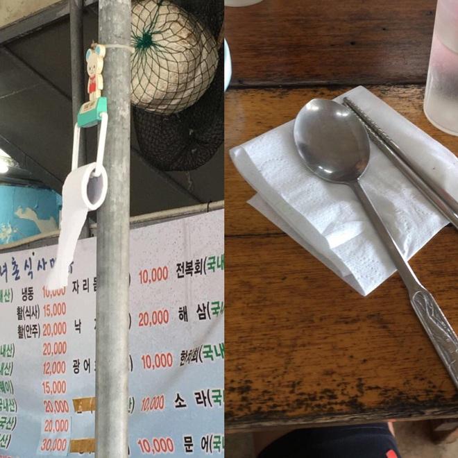 """Loại giấy thường xuất hiện trong một số quán ăn đang khiến dân mạng tranh cãi, nhiều du khách cũng """"ái ngại"""" vì khó sử dụng - Ảnh 3."""