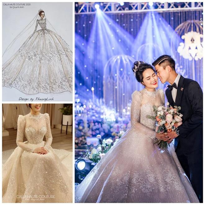 Váy cưới của Quỳnh Anh: Không phải vài trăm triệu mà trị giá 1 tỉ đồng, trong mắt NTK bộ váy này là vô giá - Ảnh 5.