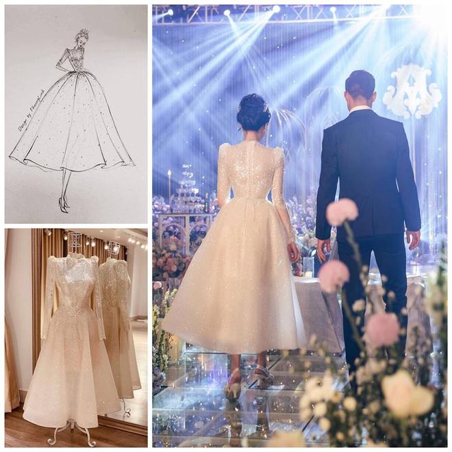 Váy cưới của Quỳnh Anh: Không phải vài trăm triệu mà trị giá 1 tỉ đồng, trong mắt NTK bộ váy này là vô giá - Ảnh 6.