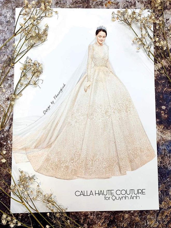 Váy cưới của Quỳnh Anh: Không phải vài trăm triệu mà trị giá 1 tỉ đồng, trong mắt NTK bộ váy này là vô giá - Ảnh 3.