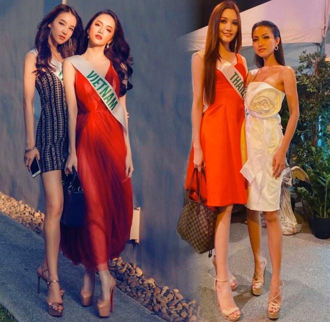 2 lần mỹ nhân Việt đọ sắc với Thái tại Hoa hậu Chuyển giới: Hương Giang không hề lép vế, Hoài Sa ra sao trước đối thủ cao 1m8? - ảnh 1