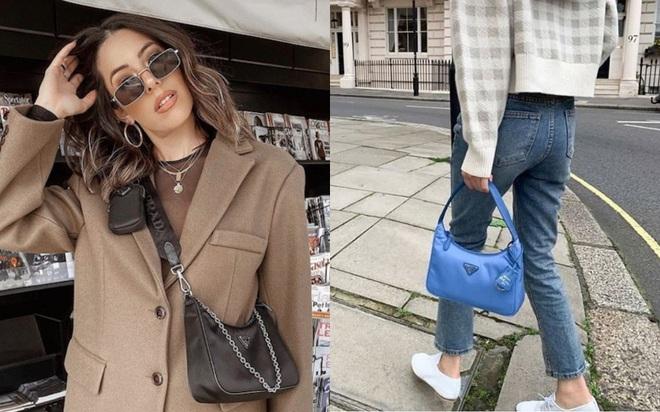 """Khỏi lùng túi vintage cho cực thân, Prada đã tái bản mẫu túi nylon huyền thoại với giá """"yêu thương"""", không giàu như các sao bạn vẫn tậu được - ảnh 5"""