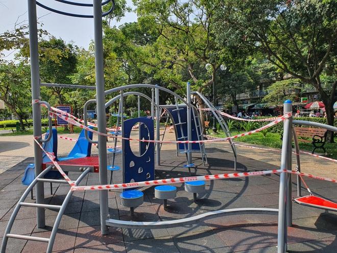 TP.HCM: Các khu tập thể dục, khu trò chơi thiếu nhi tại công viên chính thức ngưng hoạt động để phòng dịch Covid-19 - ảnh 2