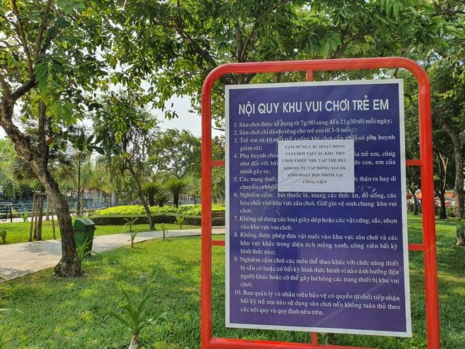 TP.HCM: Các khu tập thể dục, khu trò chơi thiếu nhi tại công viên chính thức ngưng hoạt động để phòng dịch Covid-19 - ảnh 3