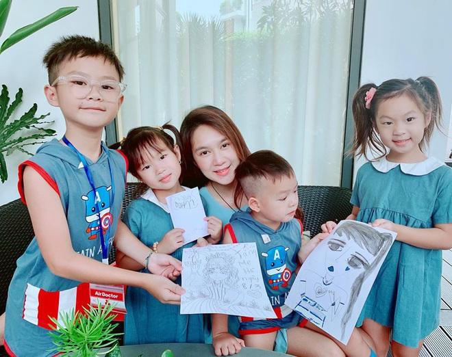Ở nhà chăm 4 nhóc tỳ trong mùa dịch, vợ chồng Lý Hải liền nghĩ ra cách dạy con bổ ích và đáng học tập thế này đây! - ảnh 5