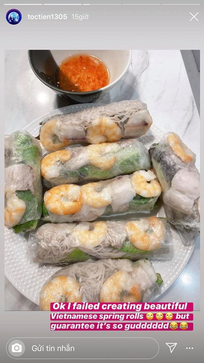 Không nhà hàng đắt đỏ, sao Vbiz tiết kiệm với mâm cơm nhà mùa dịch: Tóc Tiên nịnh chồng món ngon, Băng Di nấu bữa chỉ 50K - Ảnh 5.