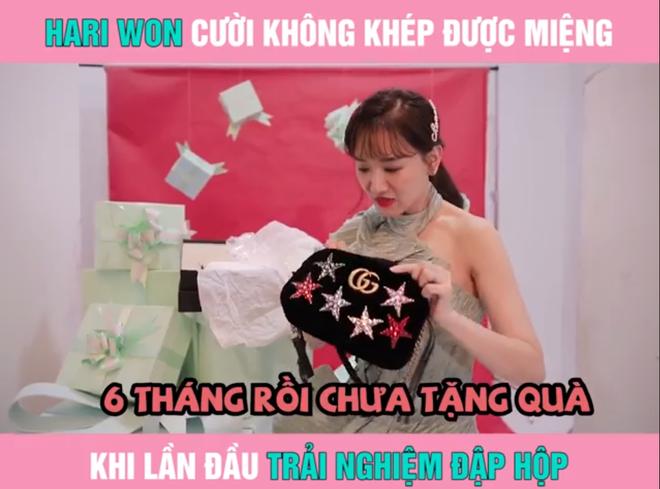 Hari Won lần đầu bắt trend quay clip đập hộp, tiện bóc phốt luôn ông xã Trấn Thành - Ảnh 6.