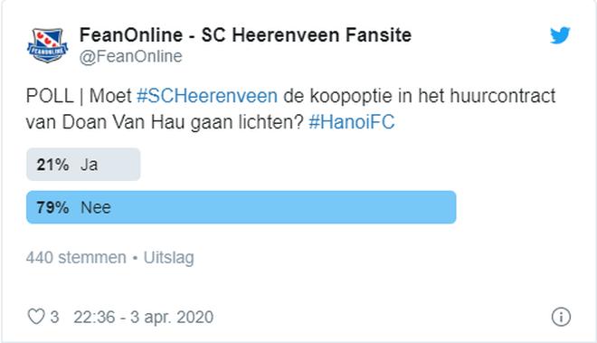CĐV Hà Lan bỏ phiếu tín nhiệm thấp cho Văn Hậu, không muốn SC Heerenveen gia hạn hợp đồng - Ảnh 1.