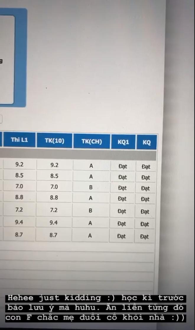 Hoa hậu IELTS 7.5 Lương Thùy Linh gây ngỡ ngàng vì tung bảng điểm toàn F, điểm chuyên cần bằng 0, sự thật là gì? - Ảnh 3.