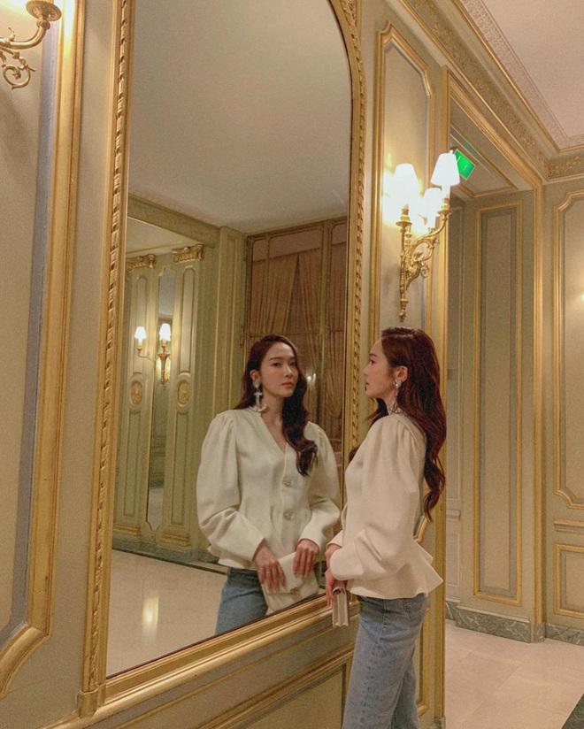 Jessica là fan cứng của áo blouse trắng và chỉ cần xem qua, chị em sẽ chấm được những kiểu đáng diện nhất - ảnh 2