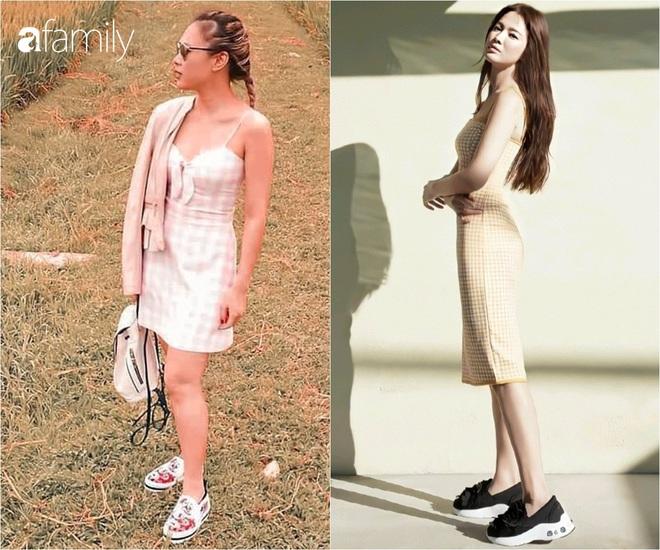 Cùng một kiểu váy hack tuổi: Song Hye Kyo thì được khen, Mỹ Tâm lại bị chê hơi sến - ảnh 1