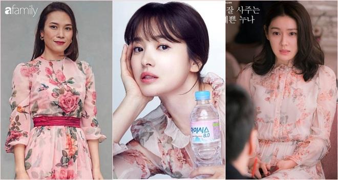 Cùng một kiểu váy hack tuổi: Song Hye Kyo thì được khen, Mỹ Tâm lại bị chê hơi sến - ảnh 7