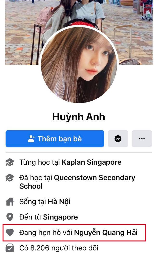 Quang Hải đặt trạng thái hẹn hò Huỳnh Anh trên Facebook cá nhân - Ảnh 1.