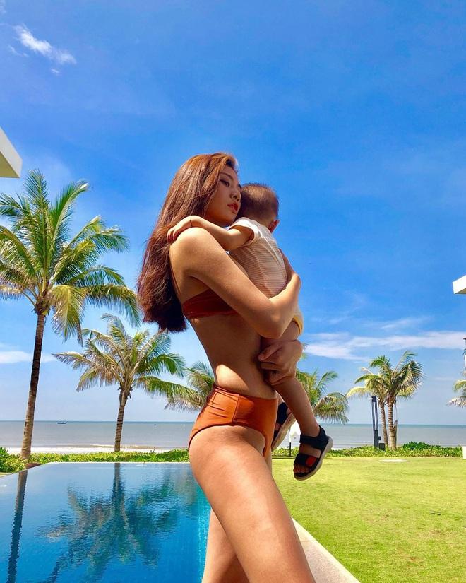 Sao Việt lấy lại dáng đẹp sau sinh: Nhã Phương tập lên cả cơ bụng, Lan Khuê bụng phẳng lì không chút mỡ thừa - ảnh 33