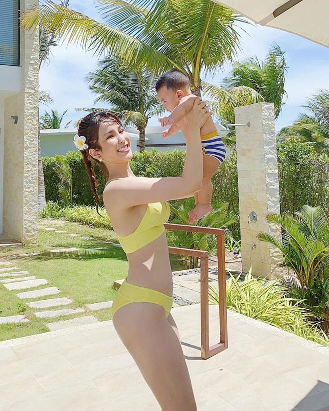 Sao Việt lấy lại dáng đẹp sau sinh: Nhã Phương tập lên cả cơ bụng, Lan Khuê bụng phẳng lì không chút mỡ thừa - ảnh 18