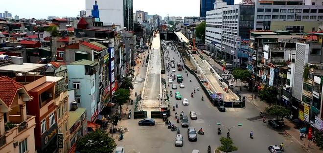 Hà Nội: Toàn cảnh tuyến đường trên cao gần 9.500 tỷ sau 2 năm thi công - ảnh 1
