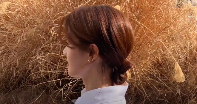 3 kiểu tóc búi thấp gái Hàn diện nguyên hè: Mát lịm mà vẫn cực sang, chưa mất 1 phút đã xong ngay - ảnh 10