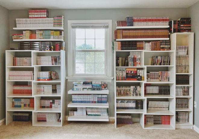 Thấy vợ tha lôi mấy nghìn quyển truyện từ Việt Nam sang Mỹ, anh chồng mày mò làm phòng đọc xinh như ảnh mạng - Ảnh 1.