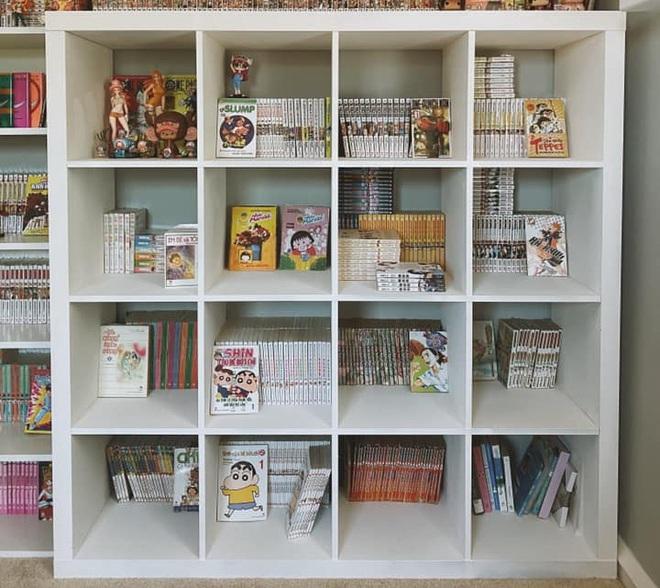Thấy vợ tha lôi mấy nghìn quyển truyện từ Việt Nam sang Mỹ, anh chồng mày mò làm phòng đọc xinh như ảnh mạng - Ảnh 3.