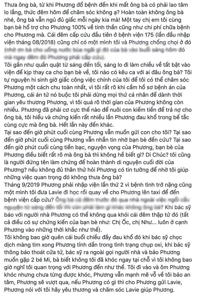 NÓNG: Bảo mẫu của con gái Mai Phương quyết kiện ngược bố mẹ cố diễn viên và luật sư, công khai đăng đàn đấu tố - Ảnh 6.