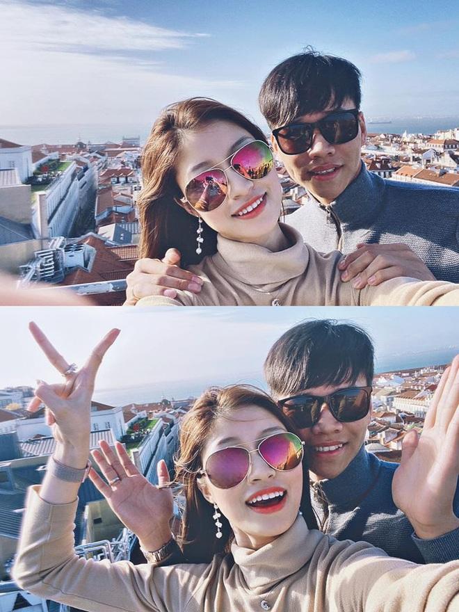 Nhìn Quỳnh Anh được chồng chiều, bạn gái giàu sụ của hậu vệ CLB Hà Nội cũng háo hức muốn bầu theo - ảnh 1