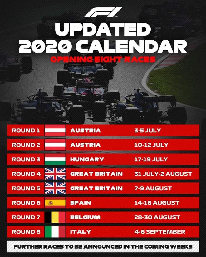 Giải F1 trở lại vào tháng 7: Không khán giả, các đội đua phải thuê máy bay riêng - ảnh 1