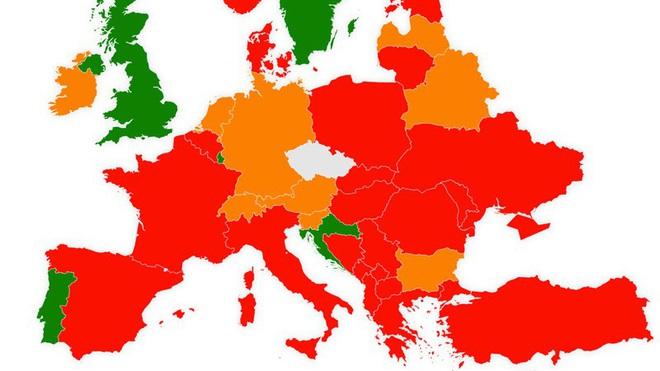 Séc công bố bản đồ nguy cơ lây nhiễm Covid-19 - ảnh 1