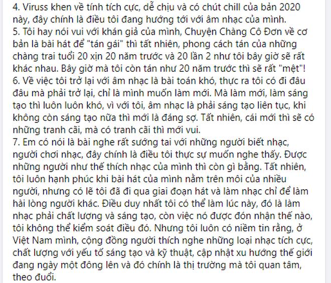 """Nam ca sĩ Hoàng Bách chính thức lên tiếng sau màn reaction của ViruSs cho rằng anh """"khó trở lại hơn các ca sĩ khác 100 lần"""" - Ảnh 2."""