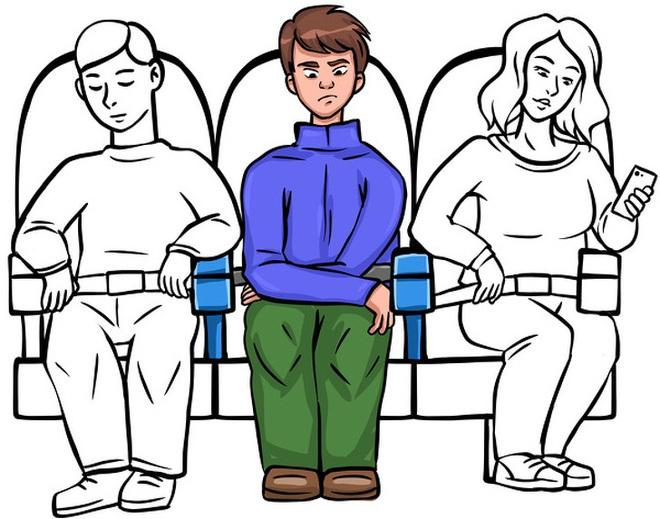 Tay vịn giữa ghế thuộc về ai? Có bị lọt xuống bồn cầu trên máy bay? - Loạt câu hỏi cho thấy đi máy bay thật lắm quy tắc! - ảnh 1